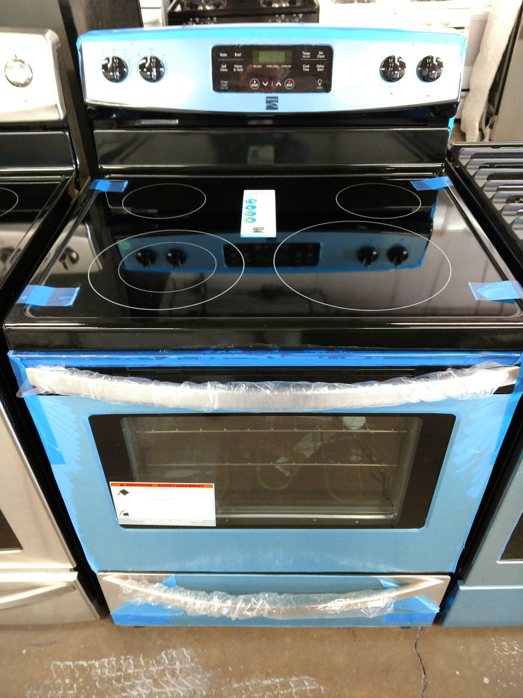 kenmore glass top stove. kenmore black and stainless steel glass top stove